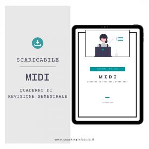 Immagine mock up della copertina dello scaricabile MIDI quaderno di revisione semestrale